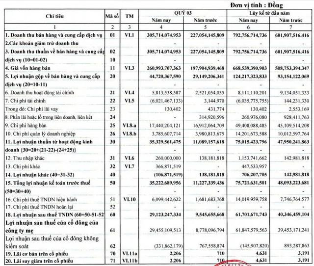 Đại lý Vận tải SAFI (SFI): Quý 3 lãi 29 tỷ đồng cao gấp 3 lần cùng kỳ - Ảnh 1.