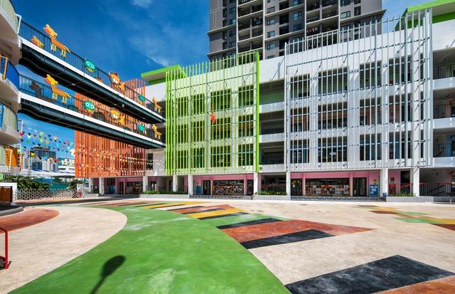 Trường mầm non rực rỡ sắc màu ở Cầu Giấy, Hà Nội - Ảnh 3.