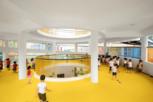 Trường mầm non rực rỡ sắc màu ở Cầu Giấy, Hà Nội - Ảnh 4.