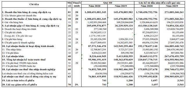 Ghi nhận kết quả chuyển nhượng bất động sản, Năm Bảy Bảy (NBB) công bố doanh thu quý 3 gấp 9 lần cùng kỳ - Ảnh 2.