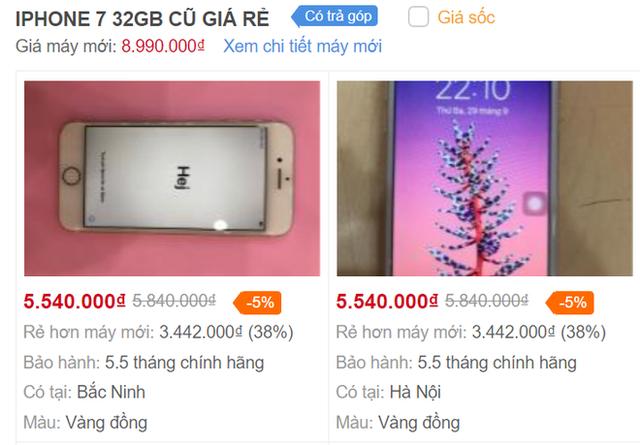 iPhone 7 giá từ 5,5 triệu, iPhone 8 rớt giá còn 7,5 triệu đồng - Ảnh 2.