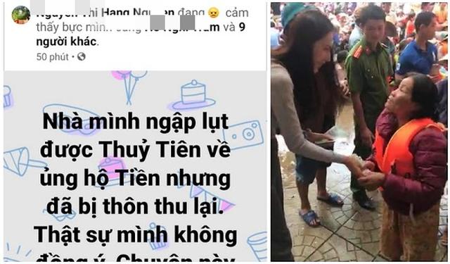Vụ Thủy Tiên trao tiền từ thiện, cán bộ thôn đến thu lại: Đã trả lại 400 triệu cho 69 hộ dân - Ảnh 1.