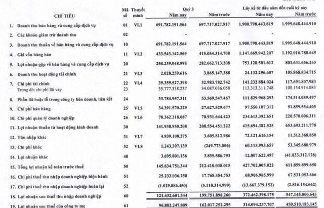 Gemadept (GMD) báo lãi 121 tỷ đồng quý 3, giảm 39% so với cùng kỳ - Ảnh 1.