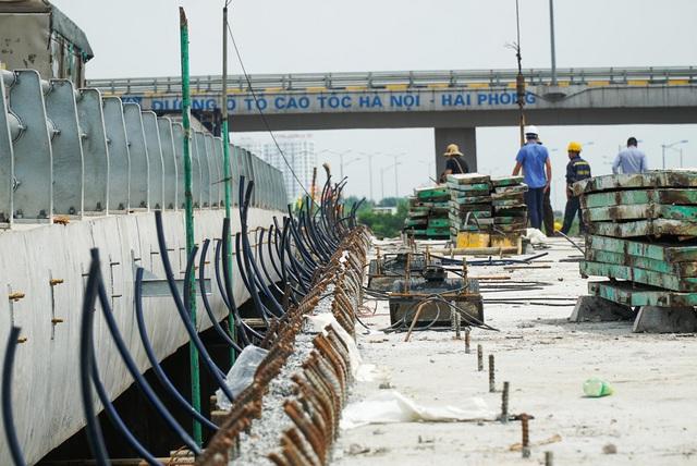 Cận cảnh công trình kết nối vành đai 3 với cao tốc Hà Nội - Hải Phòng - Ảnh 5.