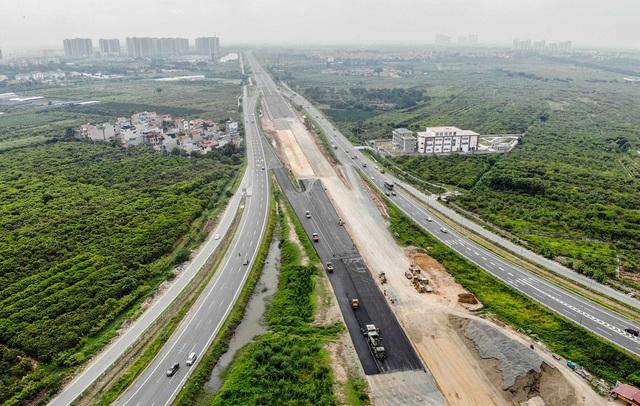 Cận cảnh công trình kết nối vành đai 3 với cao tốc Hà Nội - Hải Phòng - Ảnh 8.