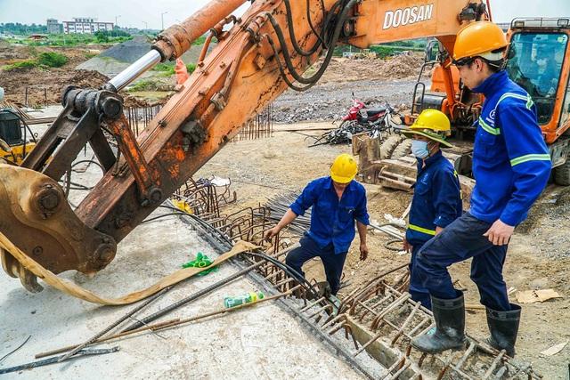 Cận cảnh công trình kết nối vành đai 3 với cao tốc Hà Nội - Hải Phòng - Ảnh 9.