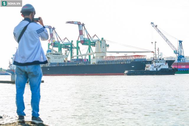 Cận cảnh tàu biển 120 mét chở 3 toa tàu metro số 1 đầu tiên cập cảng ở TP.HCM - Ảnh 2.