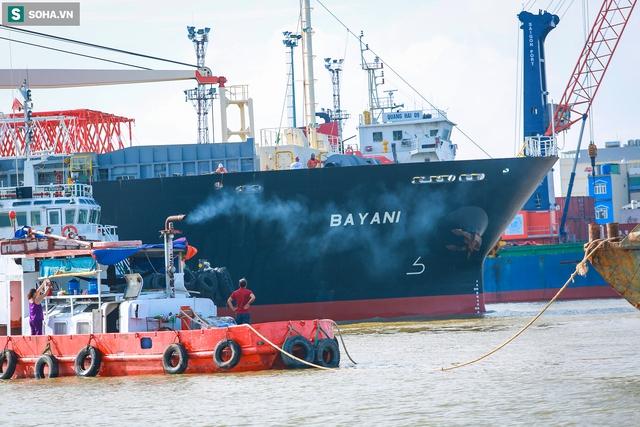 Cận cảnh tàu biển 120 mét chở 3 toa tàu metro số 1 đầu tiên cập cảng ở TP.HCM - Ảnh 3.