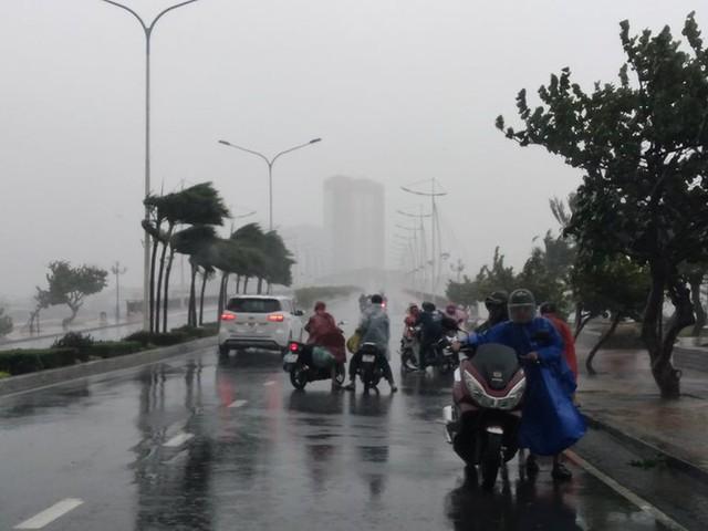 Bão đổ bộ vào Khánh Hòa, TP Nha Trang mưa to, gió lớn, nhiều nơi mất điện - Ảnh 4.