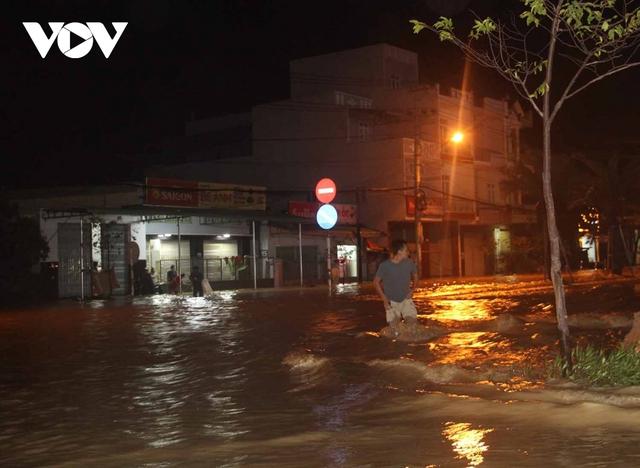 Bình Định: Nước lũ đổ về gây ngập cửa ngõ vào thành phố Quy Nhơn  - Ảnh 7.