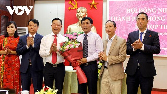 Ông Hồ Quang Huy được bầu làm Chủ tịch UBND thành phố Móng Cái  - Ảnh 1.