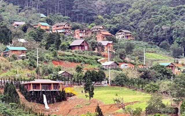 Phân lô đất nền tự phát gắn mác khu nghỉ dưỡng Lâm Đồng - Ảnh 3.
