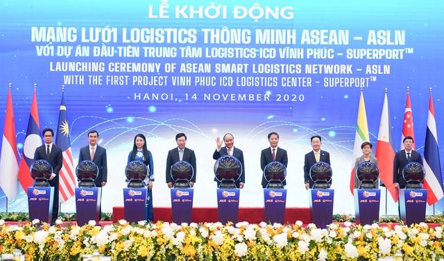 Thủ tướng Việt Nam – Singapore khởi động Mạng lưới Logistics thông minh ASEAN - Ảnh 1.