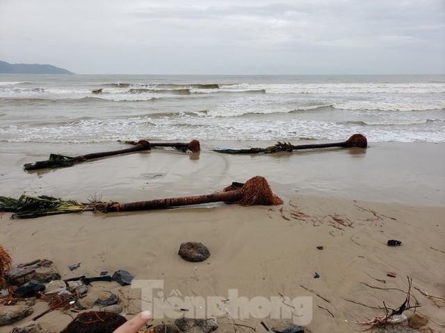 Bờ biển Đà Nẵng ngổn ngang, kè sông sụt lún vì bão số 13 - Ảnh 13.