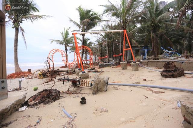 Ảnh: Cận cảnh bãi biển đẹp nhất hành tinh tan hoang, xơ xác sau bão số 13 - Ảnh 7.
