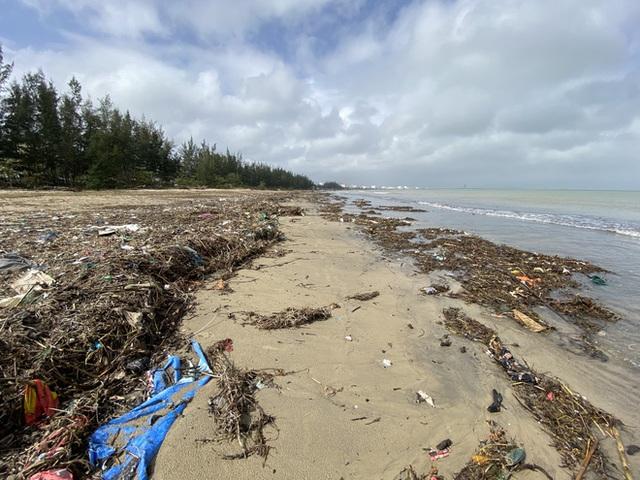 [Ảnh] Hơn 500 tấn rác dạt vào bãi biển Đà Nẵng - Ảnh 1.