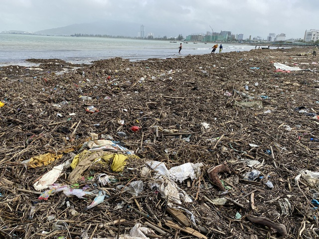 [Ảnh] Hơn 500 tấn rác dạt vào bãi biển Đà Nẵng - Ảnh 6.