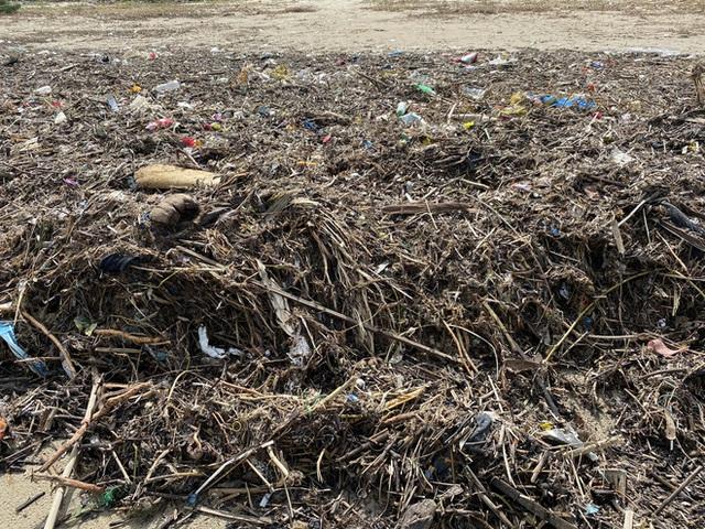 [Ảnh] Hơn 500 tấn rác dạt vào bãi biển Đà Nẵng - Ảnh 9.