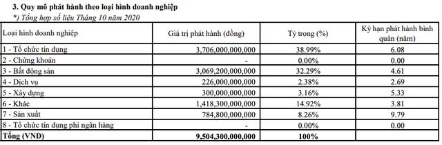Trái phiếu hãm phanh sau Nghị định mới: Tổng giá trị phát hành tháng 10 tiếp tục giảm về 9.504 tỷ đồng - Ảnh 2.