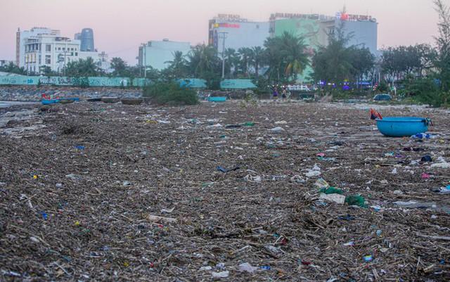 Kinh hãi với những núi rác khổng lồ trên bãi biển Đà Nẵng sau bão - Ảnh 11.