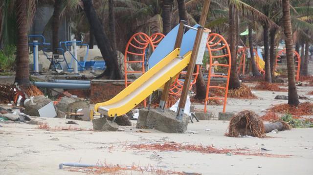 Kinh hãi với những núi rác khổng lồ trên bãi biển Đà Nẵng sau bão - Ảnh 14.
