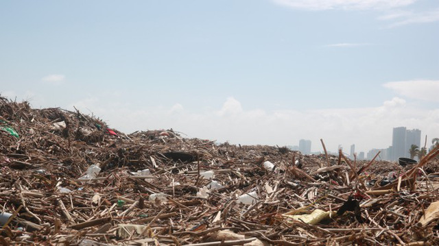Kinh hãi với những núi rác khổng lồ trên bãi biển Đà Nẵng sau bão - Ảnh 6.