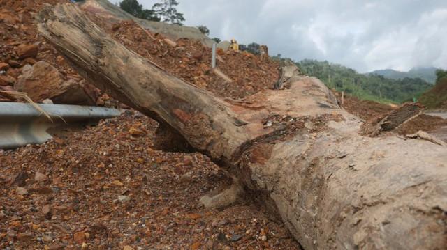 Đường sá ở miền Trung sạt lở, tan nát sau mưa bão - Ảnh 4.