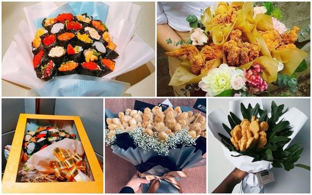 Bó hoa độc đáo làm từ cá hồi và rong biển trị giá 1,4 triệu đồng - Ảnh 1.