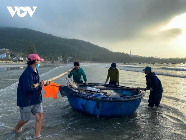 Ngư dân Đà Nẵng phấn khởi ra khơi thu tiền triệu sau bão - Ảnh 1.