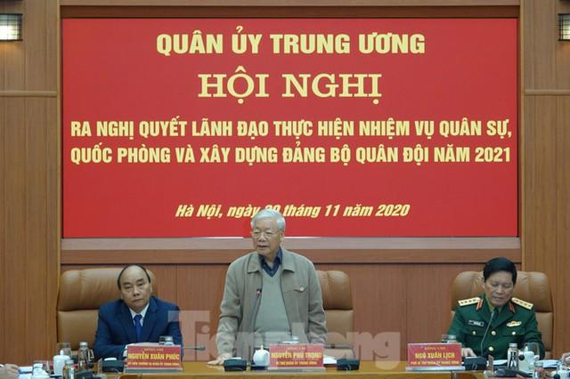 Tổng Bí thư chủ trì hội nghị Quân ủy Trung ương - Ảnh 2.