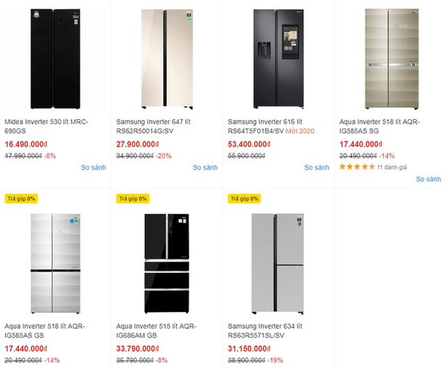 Xả hàng cuối mùa, tủ lạnh dung tích trên 600 lít giảm giá thảm - Ảnh 1.