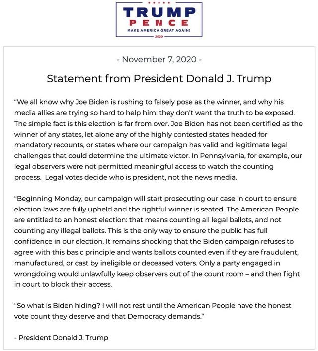 Cuộc bầu cử này còn lâu mới kết thúc!: Ông Trump phản ứng cực kỳ gay gắt, kiên quyết không nhận thua - Ảnh 1.