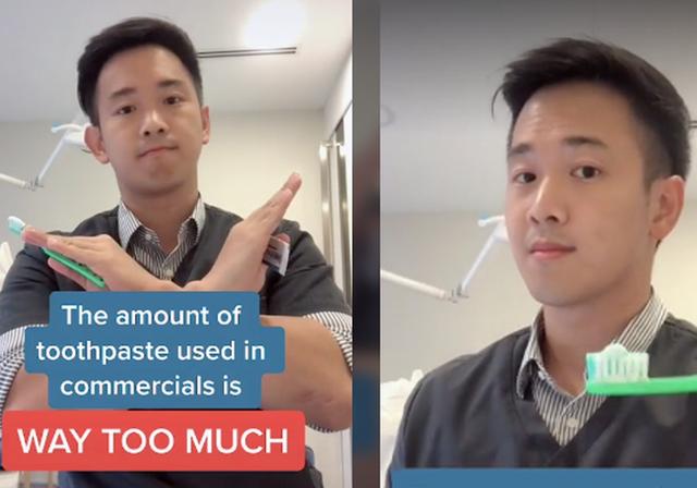 Dùng bao nhiêu kem đánh răng thì đủ? Một nha sĩ đã đăng tải một video giúp giải đáp câu hỏi này - Ảnh 1.