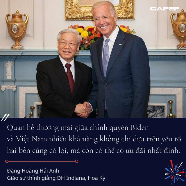 Kinh tế gia người Việt tại Mỹ: Các chính sách của ông Biden có thể sẽ còn thuận lợi cho Việt Nam hơn thời ông Donald Trump - Ảnh 8.
