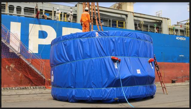 Cận cảnh robot đào hầm nặng 850 tấn của Metro Nhổn-ga Hà Nội về đến Việt Nam - Ảnh 2.