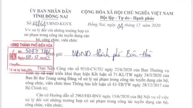 Đồng Nai chỉ đạo xử lý sai phạm trong tuyển dụng 358 cán bộ, công chức, viên chức - Ảnh 1.