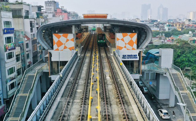 9 đoàn tàu đường sắt Cát Linh - Hà Đông đồng loạt chạy thử - Ảnh 10.