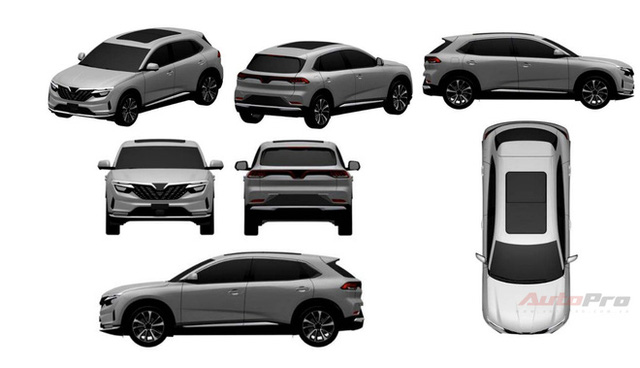 Lộ thiết kế chi tiết xe VinFast mới vừa chạy thử tại Việt Nam: SUV to ngang Honda CR-V, 2 tùy chọn động cơ xăng và điện - Ảnh 1.