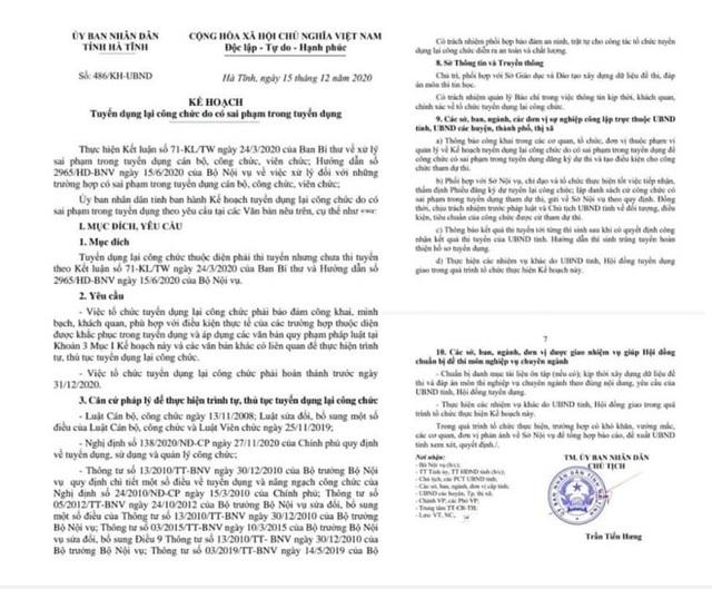 500 công chức, viên chức ở Hà Tĩnh phải thi tuyển lại - Ảnh 1.