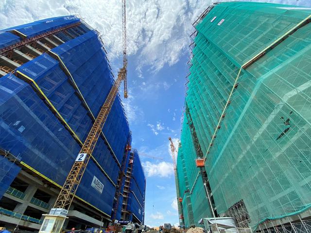 Dự án BĐS nghỉ dưỡng đang đẩy mạnh tiến độ xây dựng trong giai đoạn cuối năm.