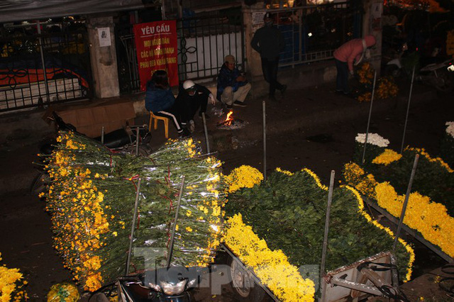 Nhọc nhằn mưu sinh trong giá lạnh ở chợ hoa lớn nhất Thủ đô - Ảnh 1.