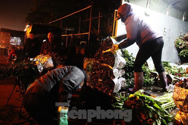 Nhọc nhằn mưu sinh trong giá lạnh ở chợ hoa lớn nhất Thủ đô - Ảnh 3.