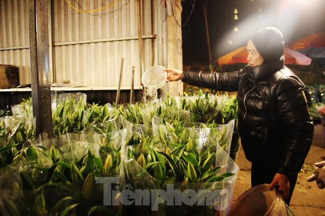 Nhọc nhằn mưu sinh trong giá lạnh ở chợ hoa lớn nhất Thủ đô - Ảnh 8.