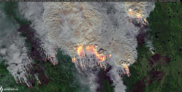 Loạt thảm họa tự nhiên 2020 qua ảnh chụp vệ tinh: Không khác nào địa ngục có thật - Ảnh 2.