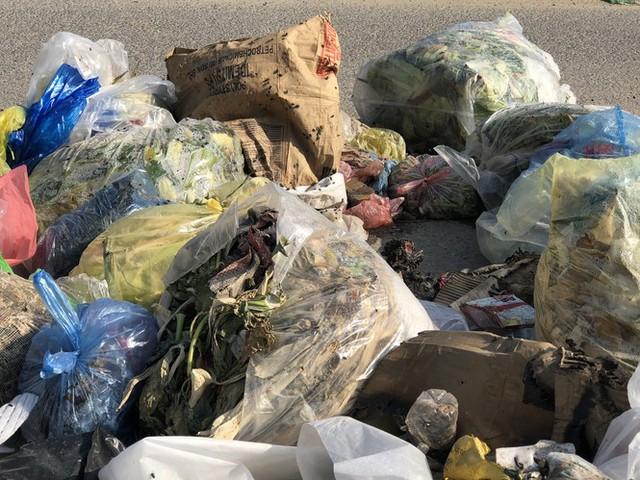 Hàng loạt bãi rác tự phát gây ô nhiễm đường phố Hà Nội - Ảnh 11.