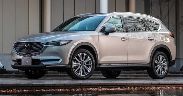 Ra mắt Mazda CX-8 2021: Giá quy đổi từ 1,05 tỷ đồng, phả hơi nóng lên Hyundai Santa Fe - Ảnh 1.