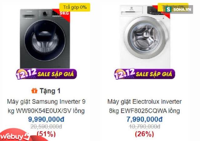 Máy giặt lồng ngang Electrolux, Samsung, LG... ngày càng rẻ, nhiều mẫu giảm sốc 50% về còn 5 triệu đồng - Ảnh 1.