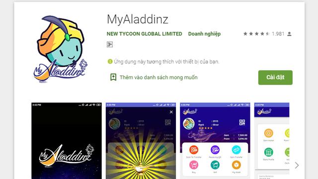 Công an cảnh báo lừa đảo khi nạp tiền vào ứng dụng Myaladdinz - Ảnh 1.