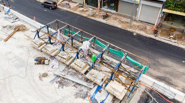 Cận cảnh cây cầu vượt lớn nhất Hà Nội sắp thông xe - Ảnh 6.