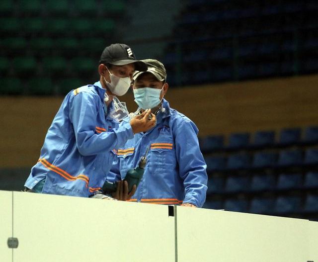 Cận cảnh: Bên trong cung thể thao được trưng dụng làm Bệnh viện dã chiến COVID-19 đầu tiên ở Đà Nẵng - Ảnh 7.